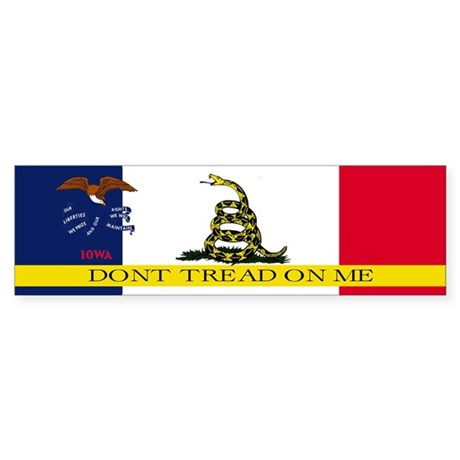 Dont Tread on Me Iowa Sticker (Bumper)