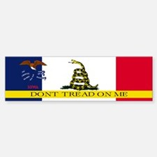 Dont Tread on Me Iowa Sticker (Bumper)