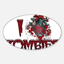 i (heart) ZOMBIES! Decal