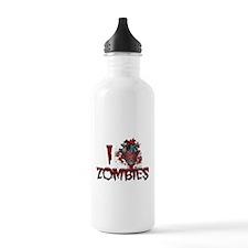 i (heart) ZOMBIES! Sports Water Bottle
