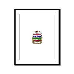 Alberta Shield Framed Panel Print