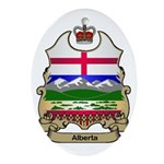 Alberta Shield Oval Ornament