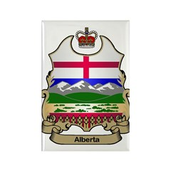 Alberta Shield Rectangle Magnet