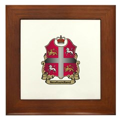 Newfoundland Shield Framed Tile