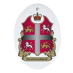 Newfoundland Shield Oval Ornament