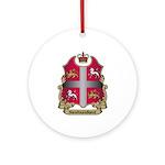 Newfoundland Shield Ornament (Round)