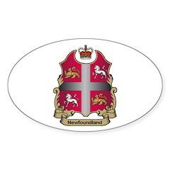 Newfoundland Shield Oval Decal