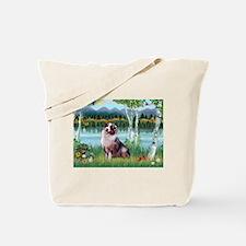 Birches/Aussie Shep 1 Tote Bag