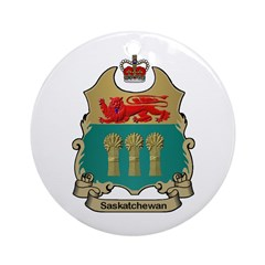 Saskatchewan Shield Ornament (Round)