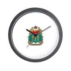 Saskatchewan Shield Wall Clock