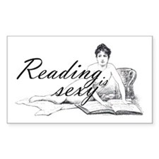 Reading is Sexy - nude Rectangle Decal