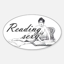 Reading is Sexy - nude Oval Decal