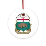 Manitoba Shield Ornament (Round)