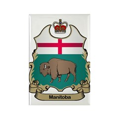 Manitoba Shield Rectangle Magnet