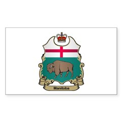 Manitoba Shield Rectangle Decal