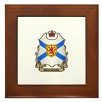 Nova Scotia Shield Framed Tile