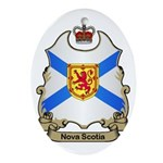 Nova Scotia Shield Oval Ornament