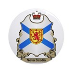 Nova Scotia Shield Ornament (Round)