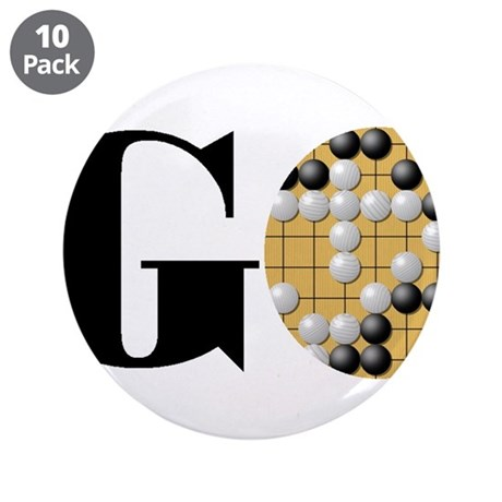 """Go Word 3.5"""" Button (10 pack)"""