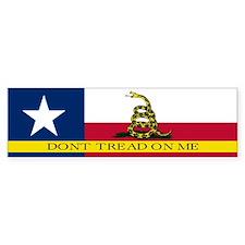 Dont Tread on Me Texas Flag Bumper Bumper Sticker
