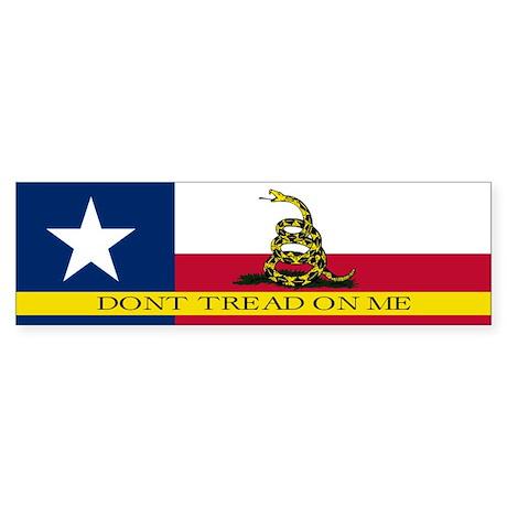 Dont Tread on Me Texas Flag Sticker (Bumper)