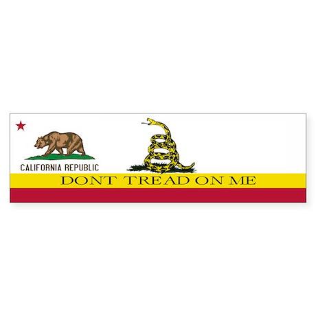 Don't Tread on Me California Sticker (Bumper)
