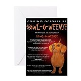 Weiner dog halloween Greeting Cards