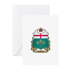 Ontario Shield Greeting Cards (Pk of 10)