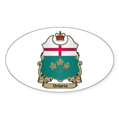 Ontario Shield Oval Decal
