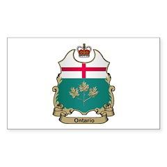 Ontario Shield Rectangle Decal