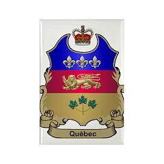 Quebec Shield Rectangle Magnet (100 pack)