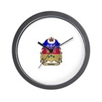 Quebec Shield Wall Clock