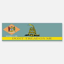 Dont Tread on Me Delaware Bumper Bumper Sticker