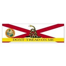 Don't Tread on Me Florida Bumper Sticker