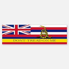 Don't Tread on Me Hawaii Bumper Bumper Sticker