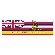 Don't Tread on Me Hawaii Bumper Sticker