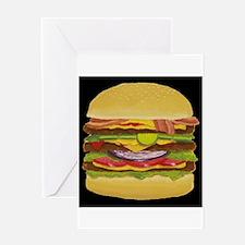 Cheeseburger king Greeting Card