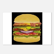 Cheeseburger king Postcards (Package of 8)