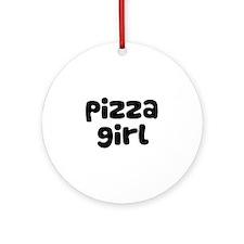 Pizza Girl Ornament (Round)