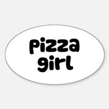 Pizza Girl Oval Decal