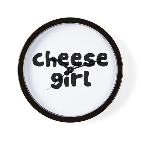 Cheese Girl Wall Clock