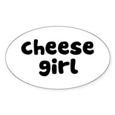Cheese Girl Oval Decal