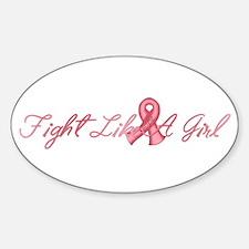 Fight Like a Girl Sticker (Oval)