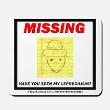Missing Leprechaun Mousepad