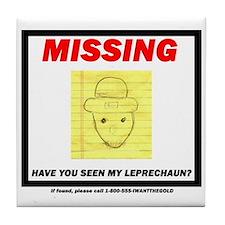 Missing Leprechaun Tile Coaster