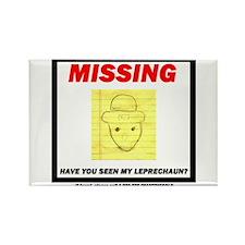 Missing Leprechaun Rectangle Magnet