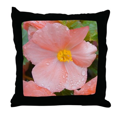 Begonia Blossom Throw Pillow