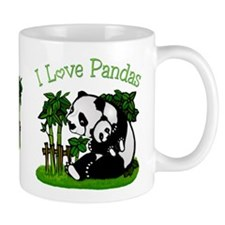 I Love Pandas Small Mug