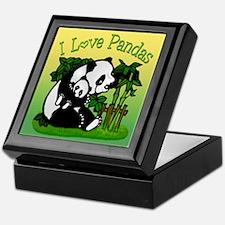 I Love Pandas Keepsake Box