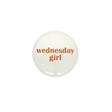 wednesday girl Mini Button